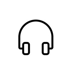 line headphones icon on white background vector image