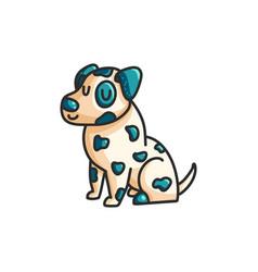 little cartoon dalmatian dog vector image