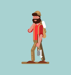 lumberjack with axe vector image