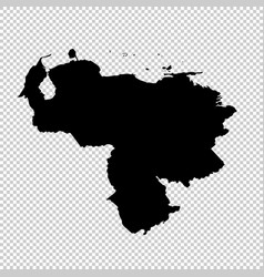map venezuela isolated black vector image