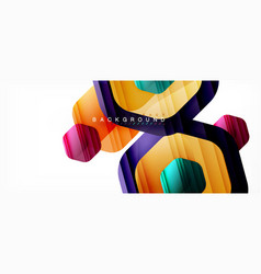 multicolored hexagons geometric abstract vector image