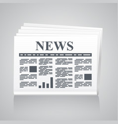 Newspaper icon classic style vector