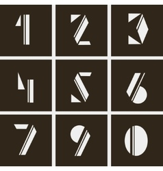 Numerals numbers of geometric shapes vector
