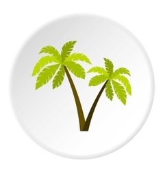 Palms icon flat style vector