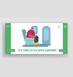 people traveling airplane website landing page vector image