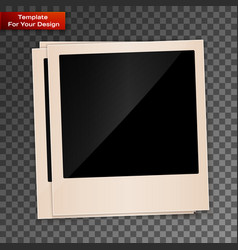 photo frame on transparent background vector image