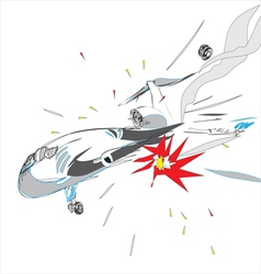 Plane crash vector