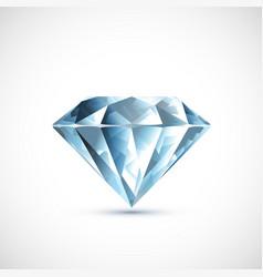 Precious blue diamond isolated on white background vector