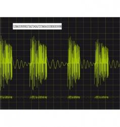 pulsing schedule vector image