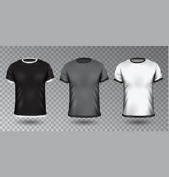 Realistic unisex shirt design tempale vector
