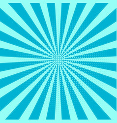 retro sunburst background centric blue pat vector image