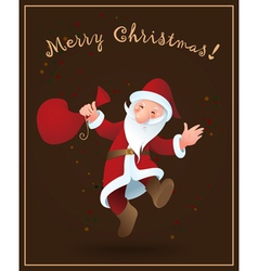 Santa Claus Christmas background vector image