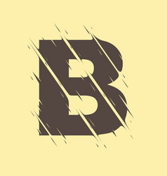 Scribbled letter b vector