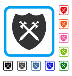 security shield framed icon vector image