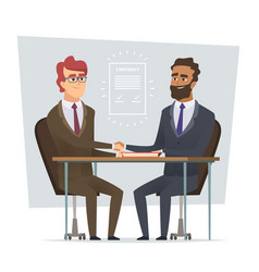sign contract business meeting selling deal vector image