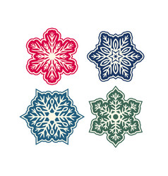 simple silver hand-drawn icon of a snowflake vector image