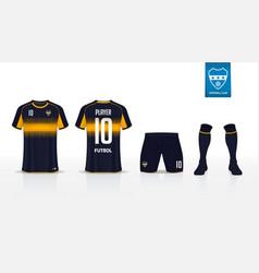 Soccer jersey or football kit mockup template vector
