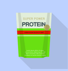 super power protein pack icon flat style vector image