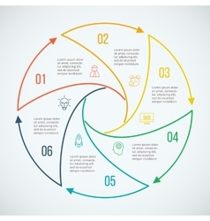 Thin line flat circle for infographic vector