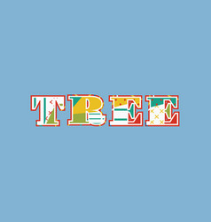 Tree concept word art vector