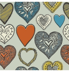 Valentines card Seamless pattern vector image