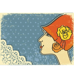 vintage woman background vector image