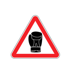 Warning sign boxung symbol hazard attention of vector