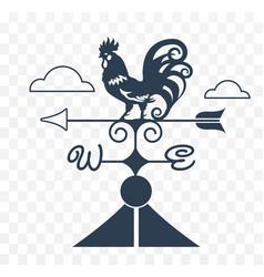 weather vane rooster vector image