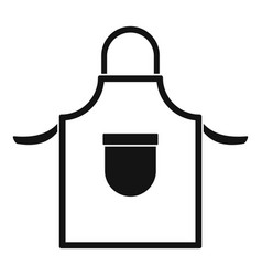 welding clothes icon simple style vector image
