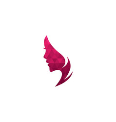 Woman face silhouette character vector