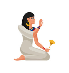 Woman of ancient egypt cartoon female character vector