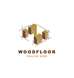 Wood logo with letter z shape vector