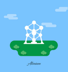 world famous monuments and landmarks design with vector image