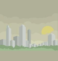 modern silver city vector image
