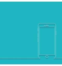 modern smartphone on blue vector image