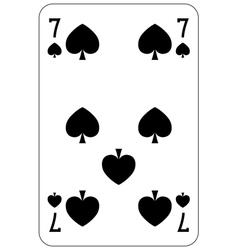 Poker playing card 7 spade vector image vector image