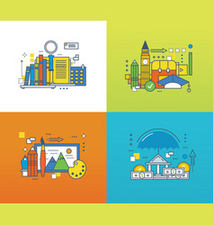search for knowledge insurance learning vector image vector image