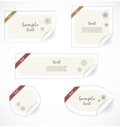 Christmas tags vector image vector image