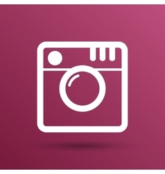 Hipster photo Camera icon Photo camera pictogram vector image