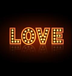 Neon sign love happy valentines day typography vector