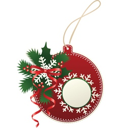 paper bauble vector image vector image