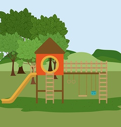 Playground design vector image