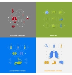 Set of medical icons vector image
