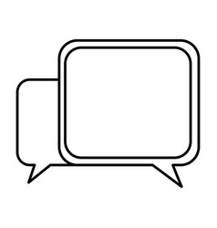 silhouette square chat bubbles icon vector image vector image