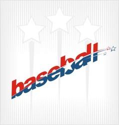 baseball sport text logo vector image vector image