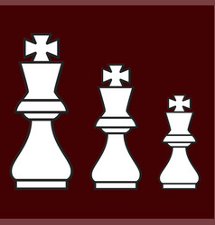 chess figure king on a brown background vector image