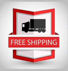 free shipping badge with on white background vector image