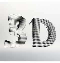 inscription-3D of 3D word vector image