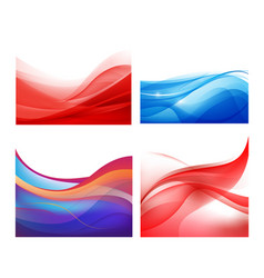 set of abstract wavy backgrounds vector image vector image