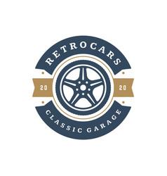 car wheel logo template design element vector image vector image